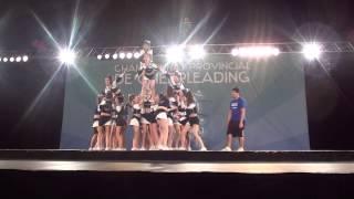 Matrix Allstars Cheerleading - FCQ Provinciaux 2012 JUNIOR WHITE