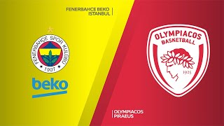 Fenerbahce Beko Istanbul - Olympiacos Piraeus Highlights | Turkish Airlines EuroLeague, RS Round 16