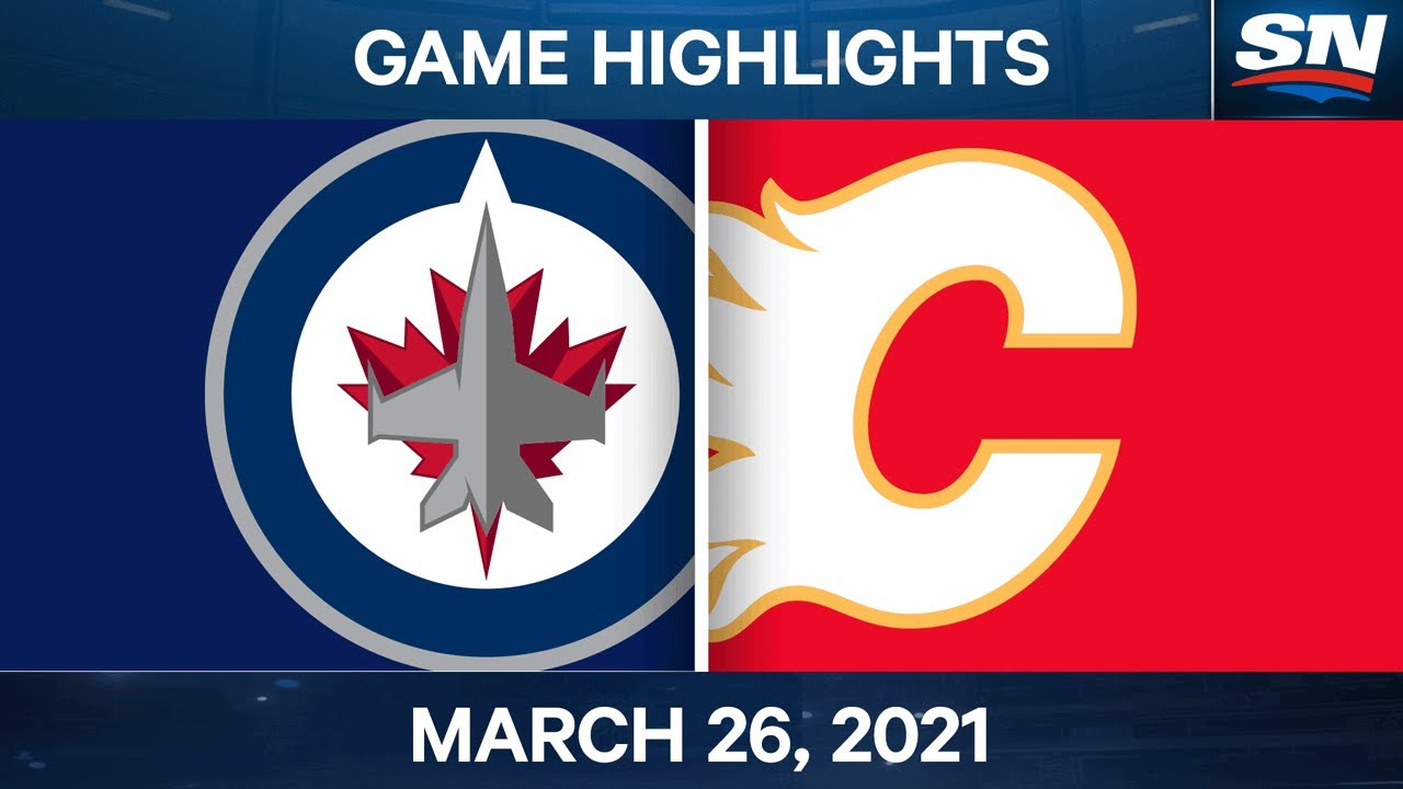NHL Highlights |  Jets vs.  Flames – 26 March 2021 – SPORTSNET