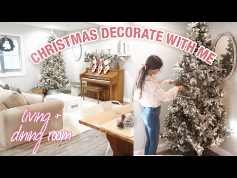FARMHOUSE CHRISTMAS DECORATE WITH ME   COZY CHRISTMAS DECORATING 2019   LIVING ROOM CHRISTMAS DECOR