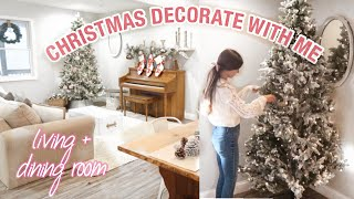 FARMHOUSE CHRISTMAS DECORATE WITH ME | COZY CHRISTMAS DECORATING 2019 | LIVING ROOM CHRISTMAS DECOR
