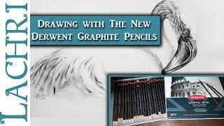 Drawing tips - Flamingo w/ the New Derwent Graphite Pencils - Lachri