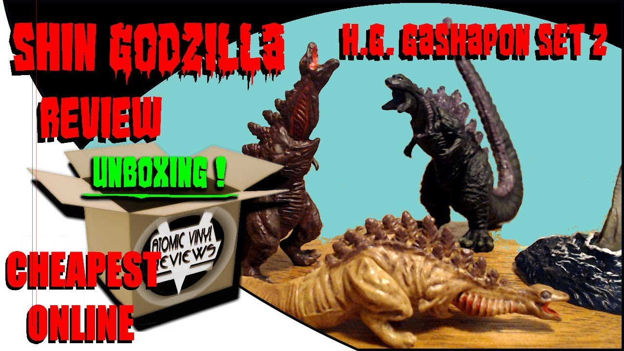 Bandai HG series Shin Godzilla 2 Gashapon set of 4 small Figure Toy