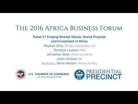 Forging Shared Values: Social Purpose and Investment in Africa