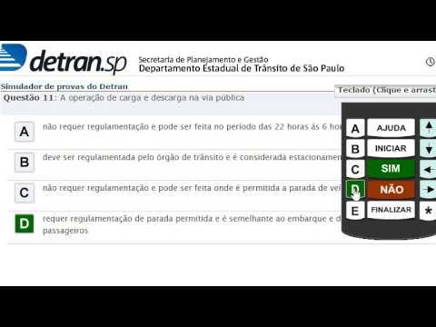 Simulado Detran SP, Prova Eletrônica, 1ª Habilitação,  30 Questões com Respostas