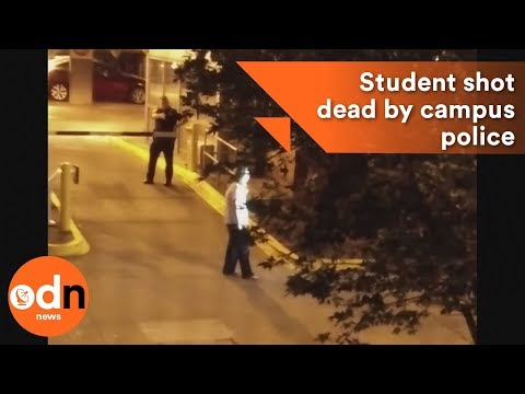Amateur video: Student shot dead by campus police