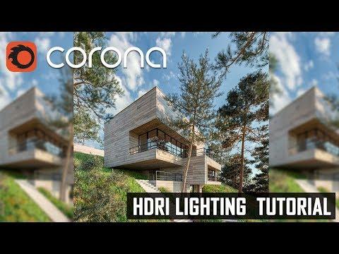 3D Tutorial  3ds Max Corona Render  Exterior HDRI Daylight Lightning