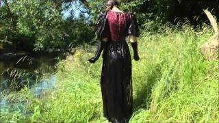 Repeat youtube video Girl in formal dress takes buckets of water then into the river in her dress