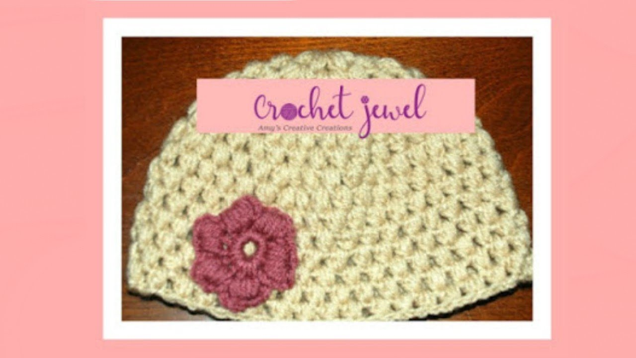 Crochet Puff Stitch Hat (12 Month old-3 year old   3-10 year old) Part I b856fadd711