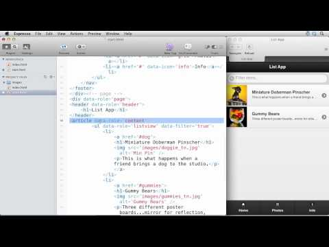 Build A Mobile List Based Web App In 12 Minutes With JQuery Mobile