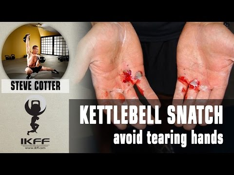 How to avoid tearing hands in KB Snatch