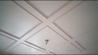 Decorative Ceiling Install - Trim Carpentry