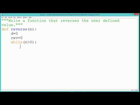 Python Program - Reverse of a number
