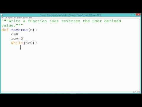 Python Program - Reverse of a number