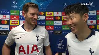 """I feel sorry I didn't run to him!"" Heung-min Son and Jan Vertonghen react to Spurs 3-0 Dortmund"