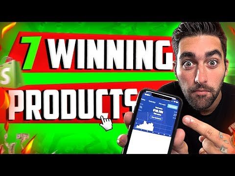 Top 7 WINNING Products And 2 Trending Niches For Shopify Dropshipping thumbnail