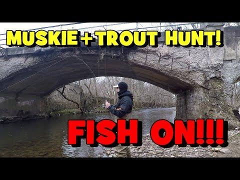WINTER Musky+Trout HUNT!! -- Attempt 1. Ft. Symplex Fishing