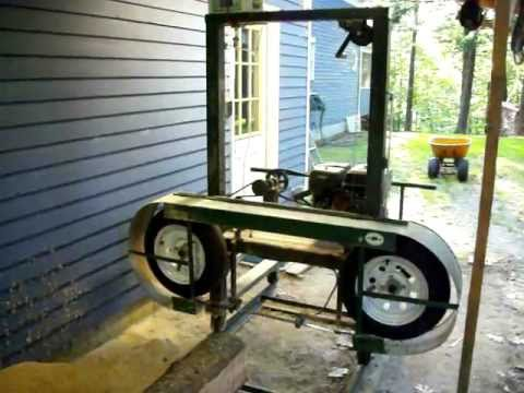 Homemade Sawmill Upclose Video Youtube