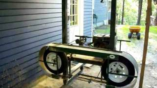 Homemade Sawmill- Upclose Video