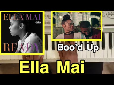 ELLA MAI - BOO'D UP (PIANO TUTORIAL) Bb minor