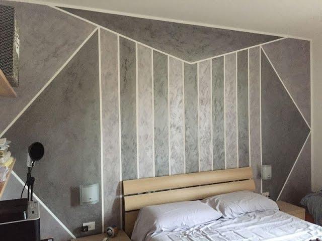 Come dipingere le pareti della cameretta. Dipingere Pareti Con Figure Geometriche Youtube