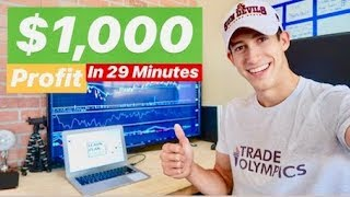 $1,000 Profit Day Trading In 29 Minutes | July 3rd 2018