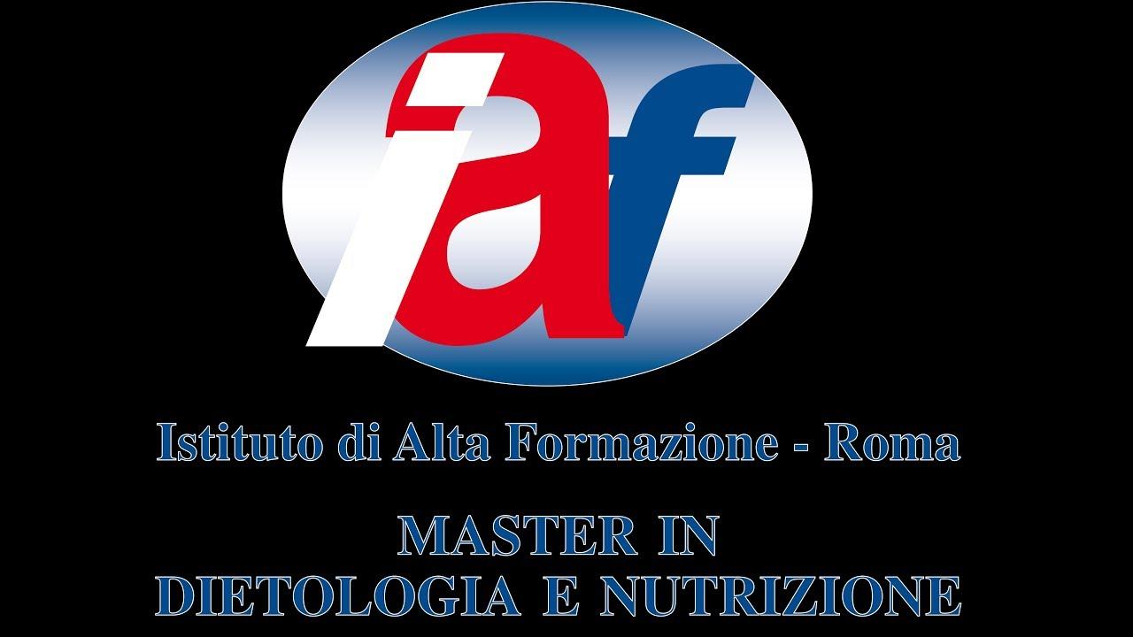 Master In Dietologia E Nutrizione Iaf