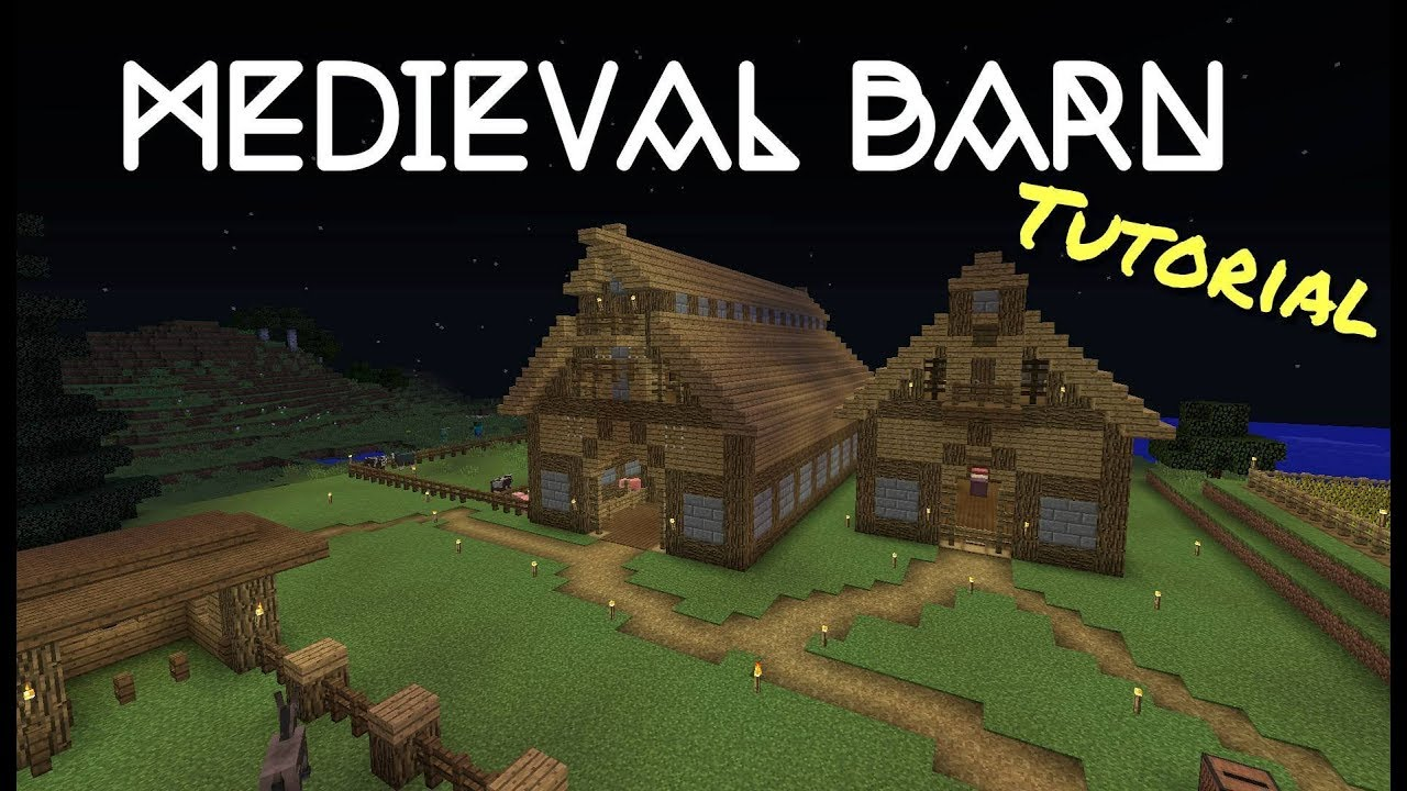 Minecraft 1.12 Medieval Barn Fast Tutorial - YouTube for Medieval Barn Minecraft  181plt