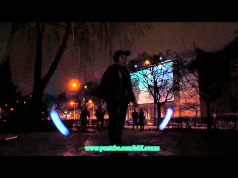 LED poi: the light show from the little boy from Ukraine (Zh
