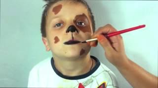 Собака аквагрим. Как нарисовать собачку. Dog Face Painting. Праздник ТВ(Рисуем аквагрим. Веселая собачка, с язычком. - http://www.youtube.com/subscription_center?add_user=DenisLegkov - Канал о том как проводить..., 2015-08-31T06:57:14.000Z)