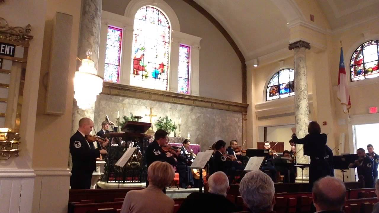 Air Force Strings - Concerto for Organ, Timpani, and Strings in G minor by Francis Poulenc. Concert at St. John's church at Lafayette Square on April 2, 2014.