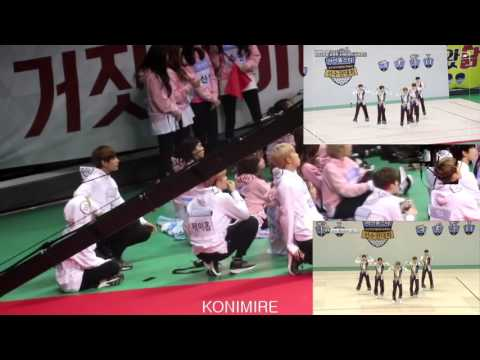 BTS reaction to ASTRO aerobic dance @ ISAC 2017