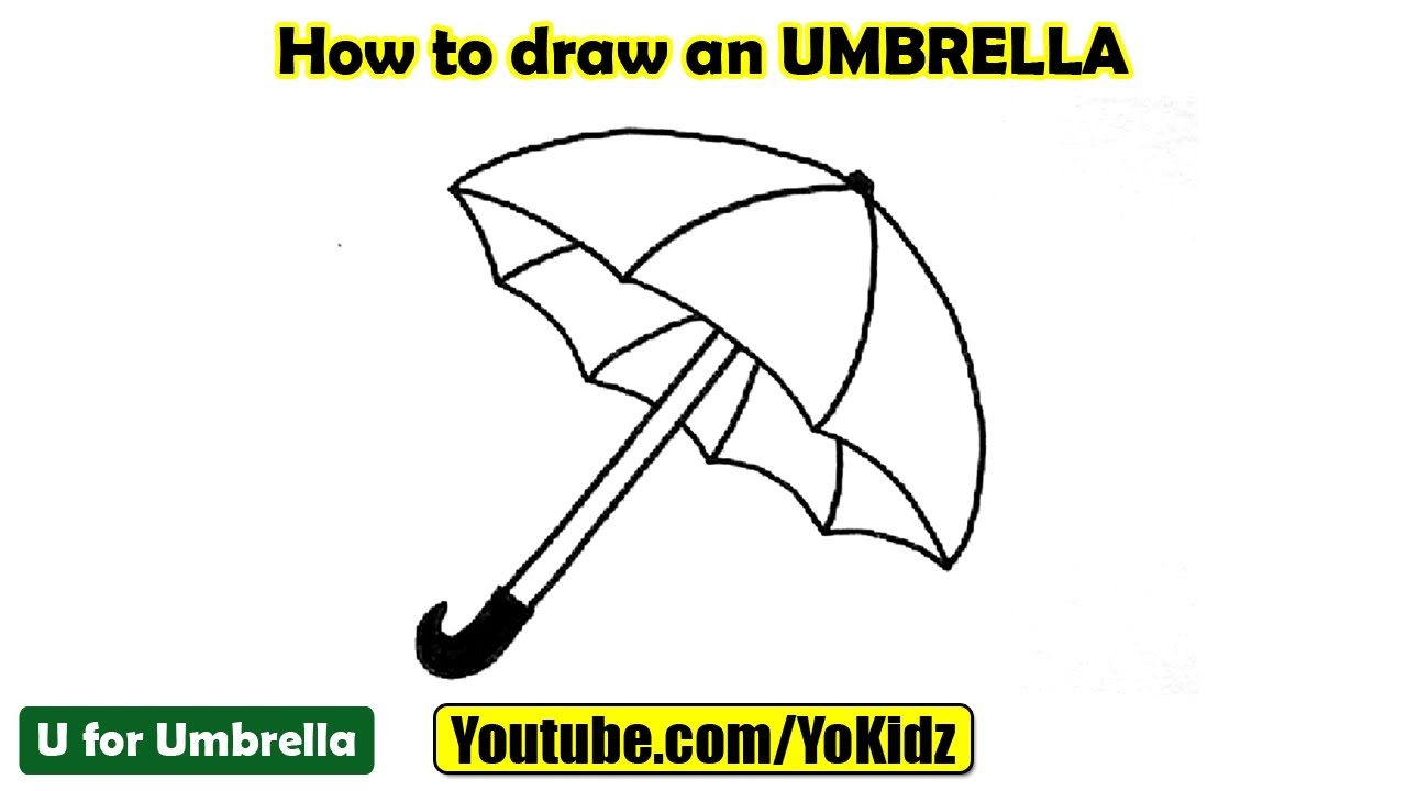 how to draw an umbrella youtube