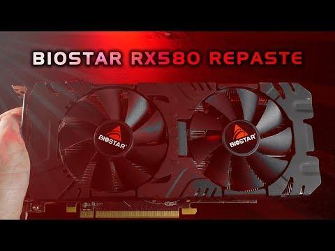 Biostar RX 580 re-pasting, temperature & GPU mining talk