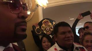 Leonard Ellerbe Manny might stop thurman if fights like vs lopez manny is special