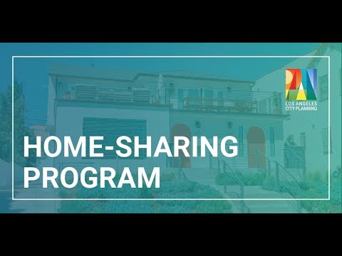 City of Los Angeles Home-Sharing Registration Demonstration