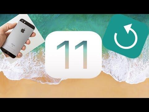 Устанавливаем чистую IOS 11 на IPhone SE с помощью программы ITunes