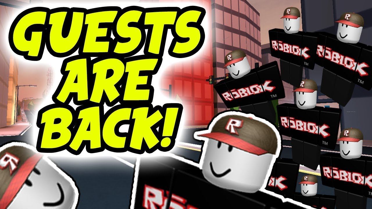 Roblox Guest Haters How To Be A Roblox Guest 2018 Guest Are Back Playing As A Guest Youtube