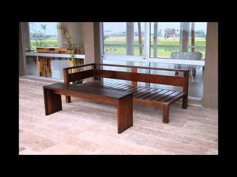 Sillones esquineros muebles de madera y jard n com youtube - Muebles de jardin en madera ...