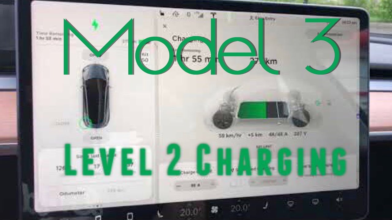 Tesla Model 3 - Level 2 Charging - YouTube