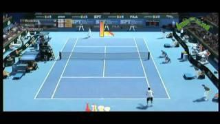 [XBOX 360] Virtua Tennis 2009 - partido a un set entre Roddick y Ancic