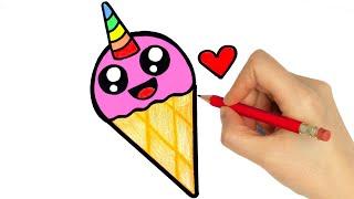 ice cream draw easy step