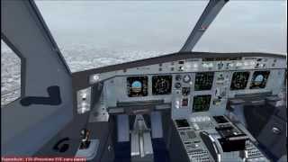 FS2004 Landing at Zurich Airbus A340-300 Swiss International Airlines LX93