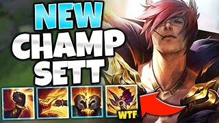 *SETT GAMEPLAY* RIOT RELEASED A NEW BROKEN BRUISER!! (NEW CHAMPION) - League of Legends