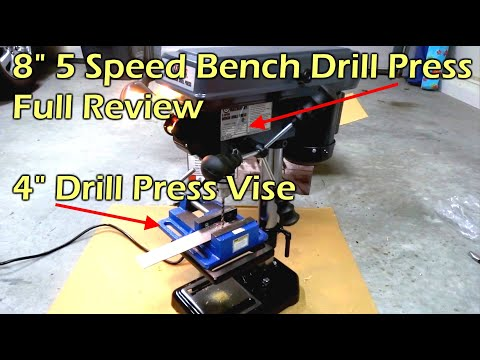 "central-machinery-8""-bench-drill-press-&-4""-drill-press-vise"