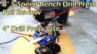 "8"" Bench Drill Press & 4"" Drill Press Vise"