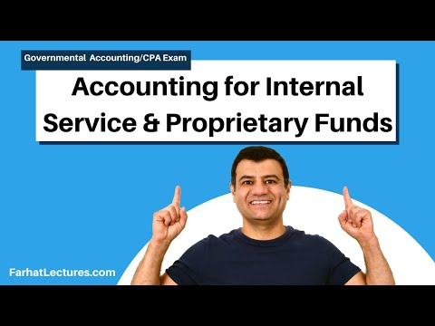 Accounting for Internal service funds proprietary funds cpa exam FAR