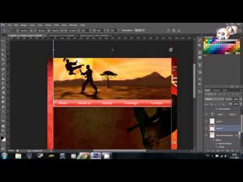 HOW TO: Easy Webdesign tutorial in Adobe Photoshop CS6