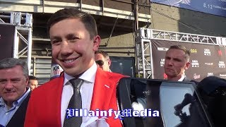 GOLOVKIN FIRES BACK AT MAYWEATHER!! TELLS HIM, YOU TALK TOO MUCH; LAUGHS AT MAYWEATHER'S PREDICTION