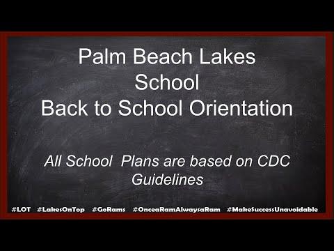 Palm Beach Lakes High School Back to School Orientation